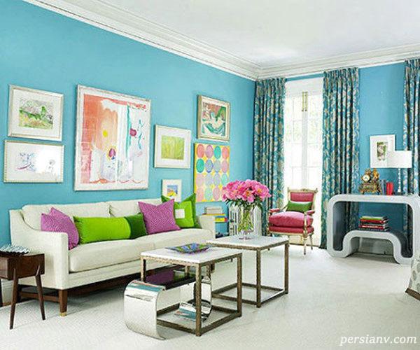 دکوراسیون داخلی آبی رنگ
