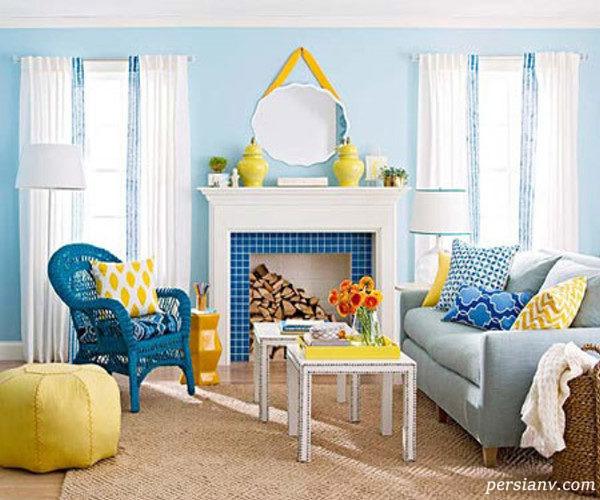 ترکیبات مختلف آبی و زرد لیمویی