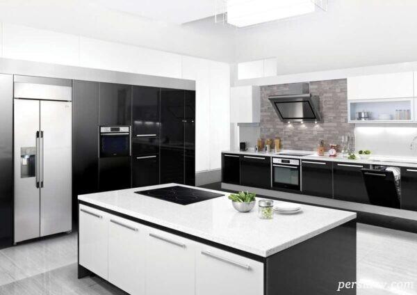 مدل آشپزخانه های شیک و مدرن سیاه و سفید +عکس