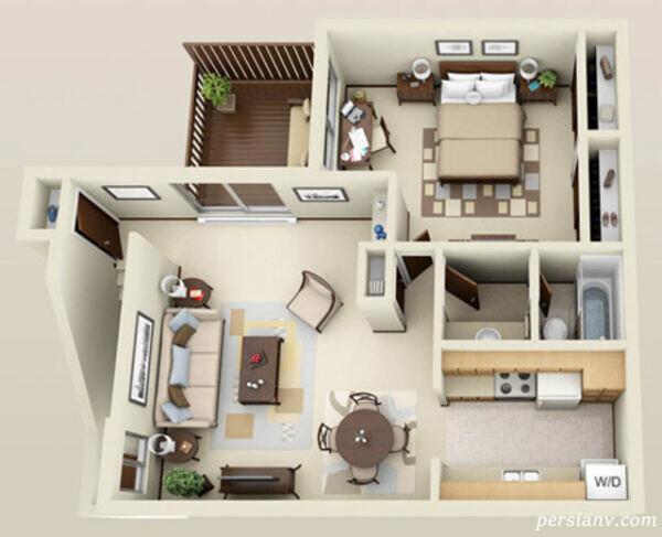 آپارتمان های یکخوابه