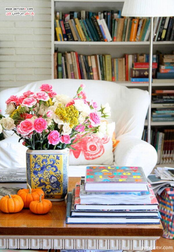 ست میز اتاق با گلدان