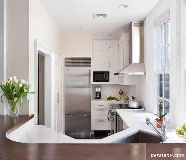 دکوراسیون داخلی آشپزخانه های کوچک و مدرن + تصاویر