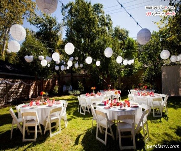 جشن عروسی در فضای باز
