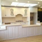 کابینت های فلزی طرح چوب برای آشپزخانه