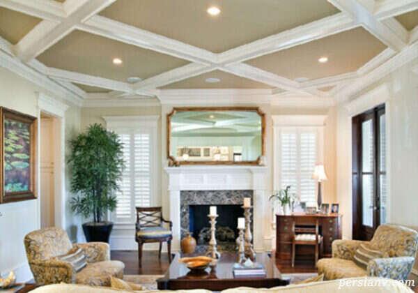طراحی بسیار زیبای تزیین سقف خانه