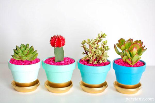 گلدانهای گلی و سفالی خود را به این شکل زیبا خیره کننده کنید