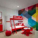 دکوراسیون خانه خیره کننده با اشکال هندسی