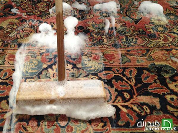 فرش ابریشمی بدون پرز دهی