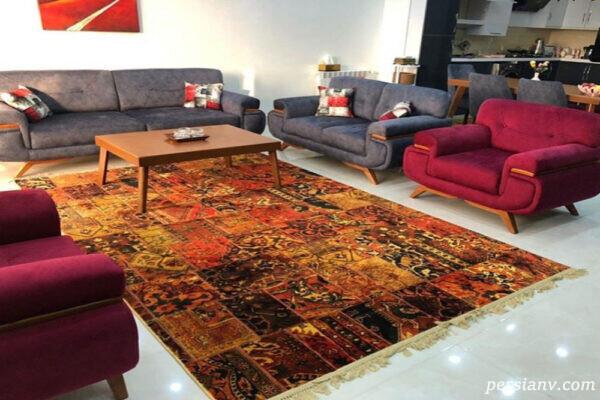 فرش های زیبای ابریشم در زیباتر شده چیدمان داخلی خانه جادو می کند