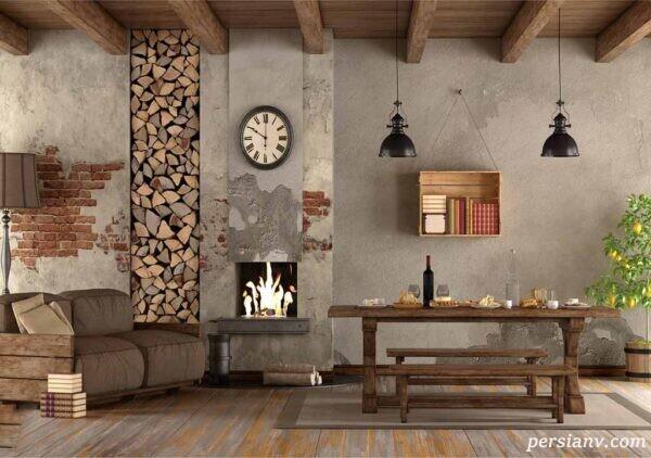 طراحی داخلی ویلایی با تلفیق احساس روستایی و مدرن!