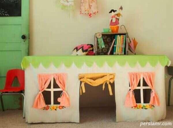 تصاویری زیبا از چادرهای بازی اتاق کودک