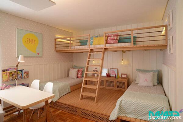 اتاق خواب دخترانه شیک