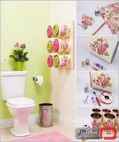 ایده هایی ساده برای تزئین حمام و دستشویی + تصاویر