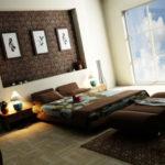 ۱۰ مدل طراحی اتاق خواب بسیار چشمگیر با رنگ قهوه ای
