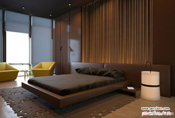 دکوراسیون اتاق با رنگ قهوه ای