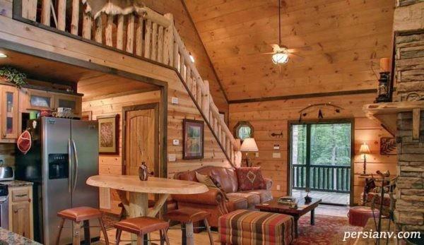 طراحی دکوراسیون چوبی یک خانه کوچک ۲۵ متری