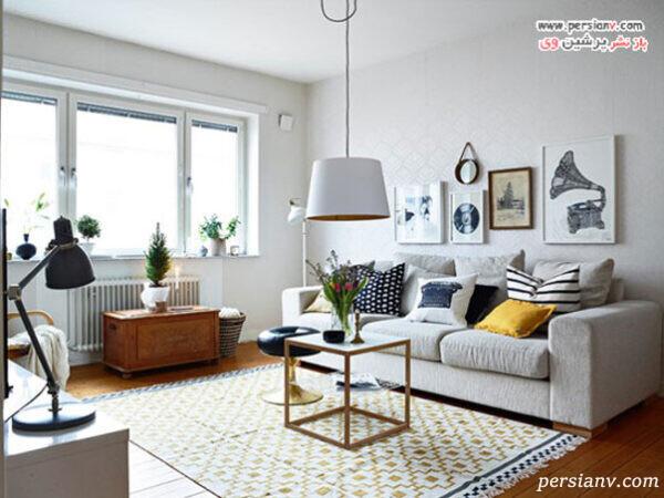 طراحی داخلی زرد خانه