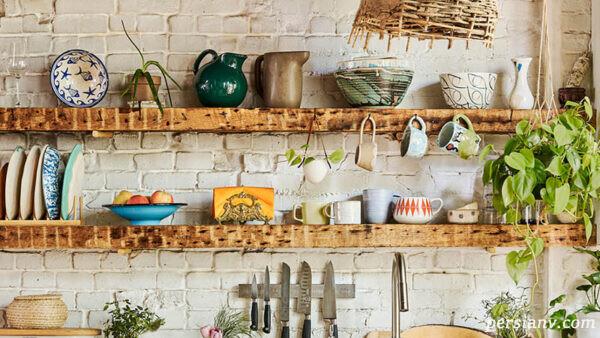 مدل متفاوتی از آشپزخانه هنری ولی کارآمد در سن فرانسیسکو