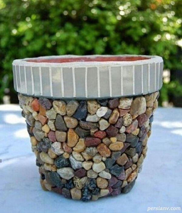 ایده های خلاقانه برای تزیین گلدان