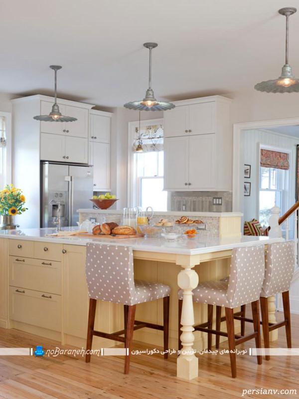 مدل آشپزخانه به شکل جزیره