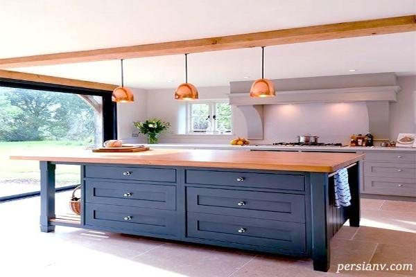 چراغهای آویز بسیار زیبا برای نورپردازی میز آشپزخانه