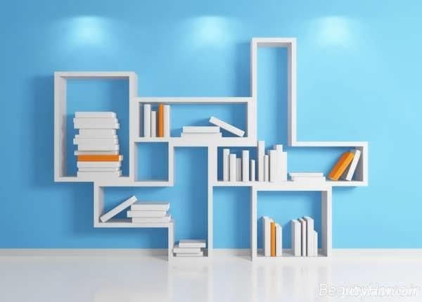 کتابخانه هایی با طرح های زیبای ام دی اف