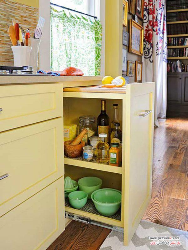 جاسازی وسایل آشپزخانه