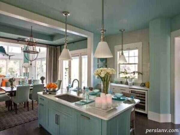 آشپزخانه به رنگ شاد