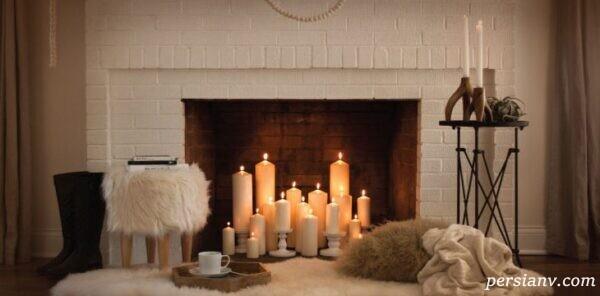 این شمع های زیبای داخل شومینه فضای خانه را شاعرانه می کنند +تصاویر