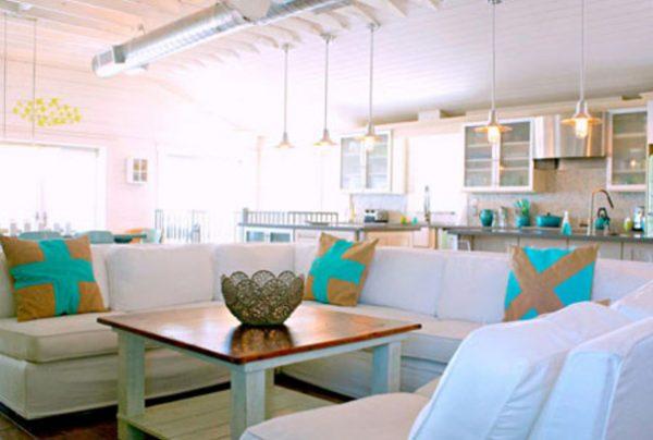 ترکیب رنگ سفید و فیروزه ای برای دکوراسیون خانه اعجاز آور است + تصاویر