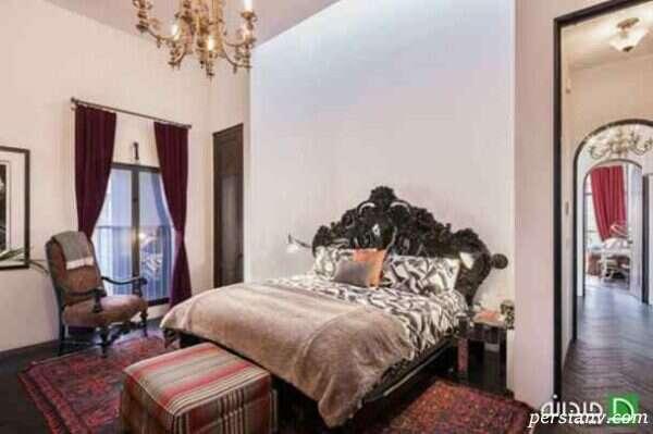 دکوراسیون داخلی اتاق خواب خانه تیلور سویفت