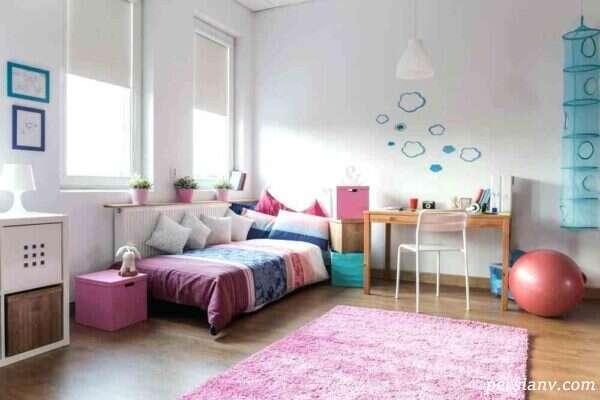 تزیین اتاق دختر جوان