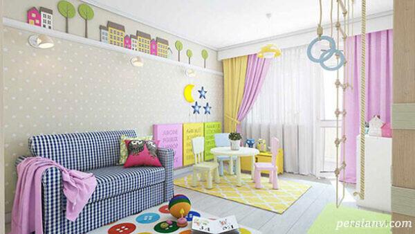 تزیین اتاق کودک مدرن