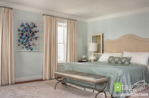 رنگ نقره ای برای اتاق خواب