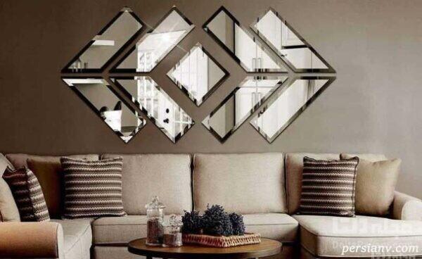 برای دکوراسیون خانه تان از مبلمانهای زیبای آیینه ای استفاده کنید