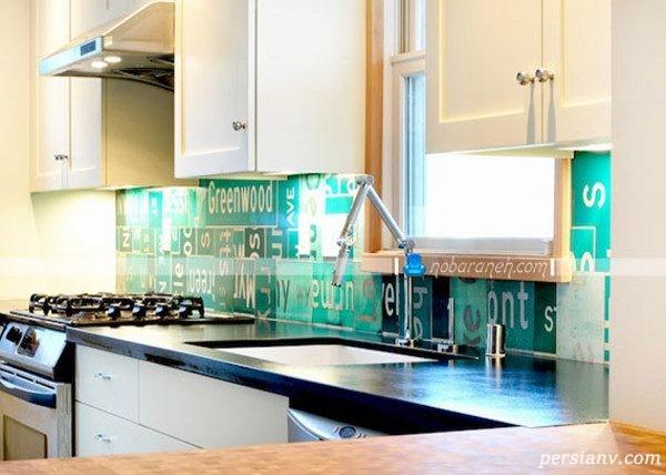تزیین دیوار آشپزخانه با کاشی
