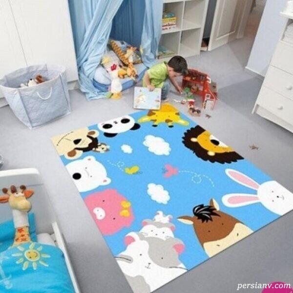 دکور فرش اتاق کودکان