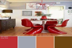 معجزه ترکیب رنگ پاییزی در دکوراسیون منزل + تصاویر