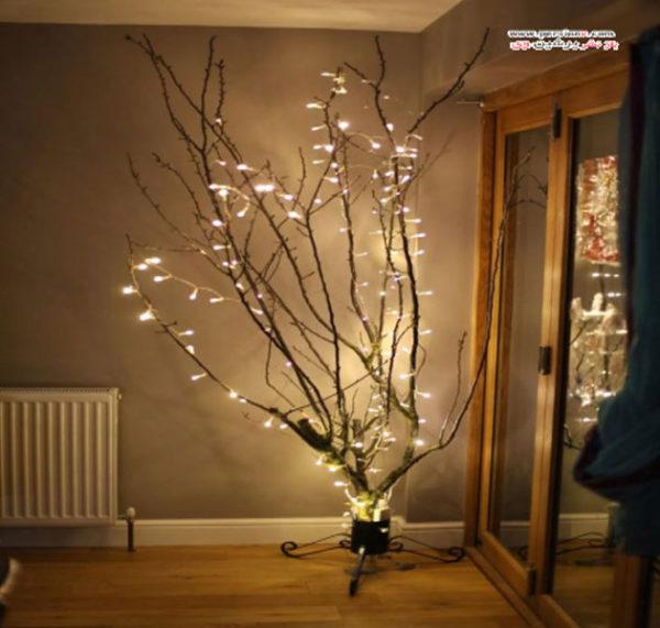 ایده های زیبا برای نورپردازی و دکور منزل با لامپ های رشته ای