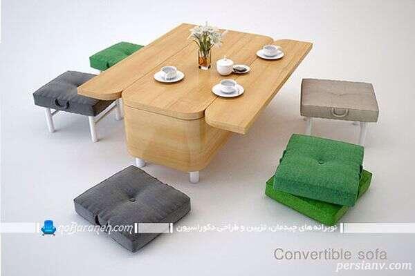طراحی خلاقانه یک کاناپه چند منظوره بسیار زیبا