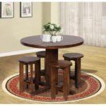 یک میز ناهارخوری چوبی گرد بسیار جالب که مناسب فضاهای کوچک است+تصاویر