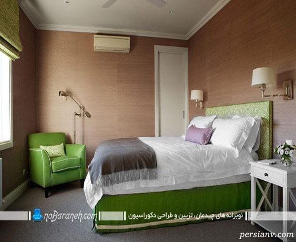 اتاق خواب به رنگ سبز