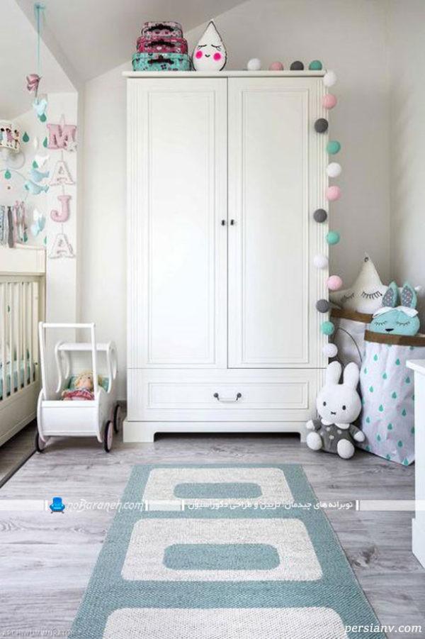 اتاق نوزاد دختر سفید