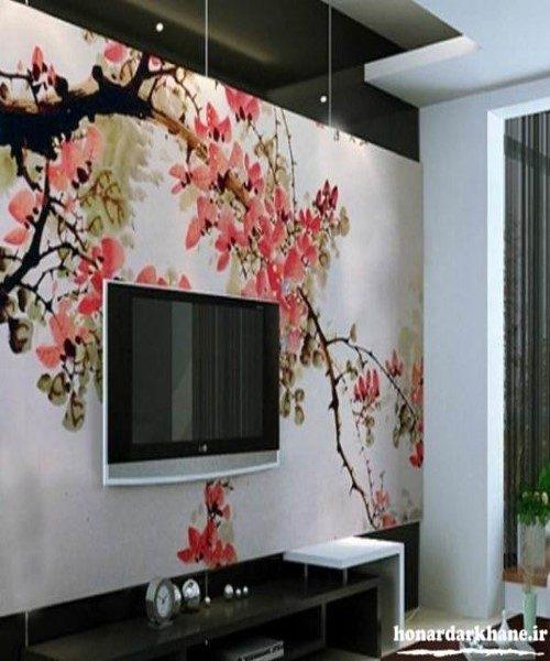 تزئین دیوارهای اتاق خواب ، پذیرایی و دیوار پشت تلویزیون با ایده هایی بسیار ساده + تصاویر