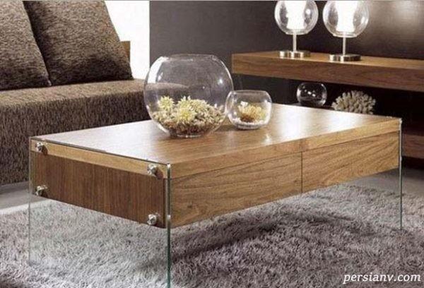 میز جلو مبلی چوبی