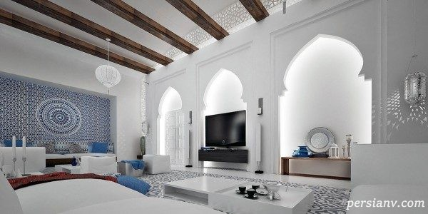 سبک مراکشی در طراحی داخلی یک خانه که چشمها را به خود خیره می کند + تصاویر
