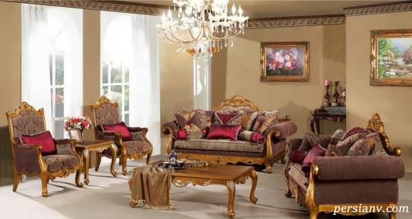 دکوراسیون اتاق پذیرایی کلاسیک بسیار زیبا با طرح های متفاوت