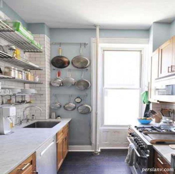 دکوراسیون آشپزخانه نقلی را با این ترفندها بزرگ تر نشان دهید