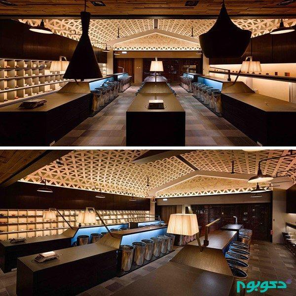سقف چوبی فروشگاه