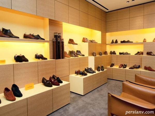 طراحی بی نظیر گالری کفش فرشتگان در شیراز